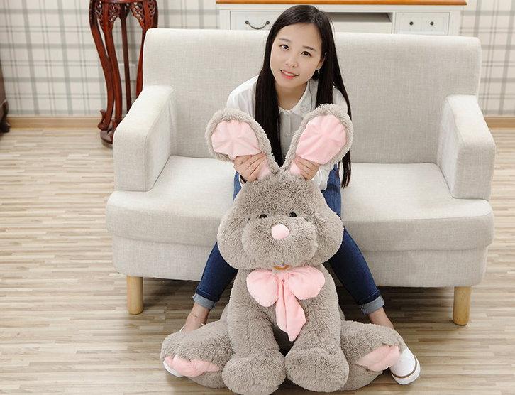 Plüsch Hase Plüschhase Plüschtier Kaninchen Bunny Hasi Geschenk Gross Kinder Freundin 120cm XXL Spielzeuge & Basteln