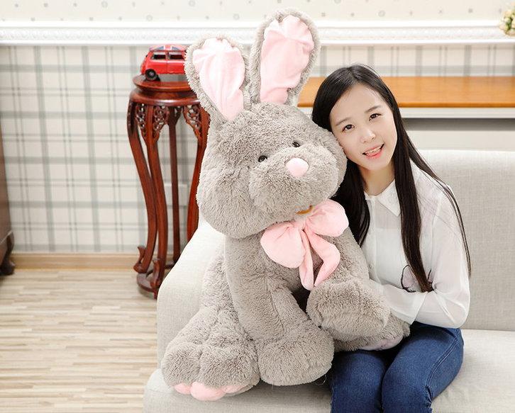 Plüsch Hase Plüschhase Plüschtier Kaninchen Bunny Hasi Geschenk Gross Kinder Freundin 120cm XXL Spielzeuge & Basteln 3