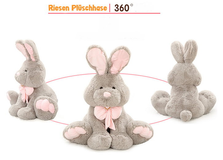 Plüsch Hase Plüschhase Plüschtier Kaninchen Bunny Hasi Geschenk Gross Kinder Freundin 120cm XXL Spielzeuge & Basteln 4