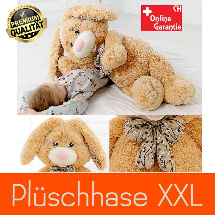 Plüsch Hase XXL Plüschtier Kuschteltier mit Schleife Kaninchen Geschenk Kind Kinder Baby & Kind