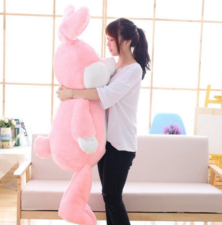 Plüschtier Hase Plüsch Kaninchen Stofftier Plüschhase Spielzeug 150cm 1.5m XXL Kuscheltier Plüschtiere Geschenk Kinder Kind Pink Rosa Rüebli ILY Baby & Kind 2