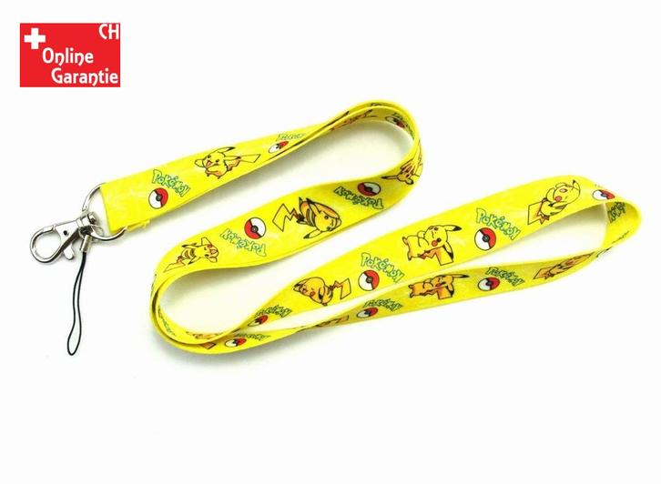 Pokémon Pikachu Pokemon Fan Schlüssel Anhänger Schlüsselanhänger Schlüsselband Band Film Videospiel TV Serie Gelb Rot Pika Baby & Kind