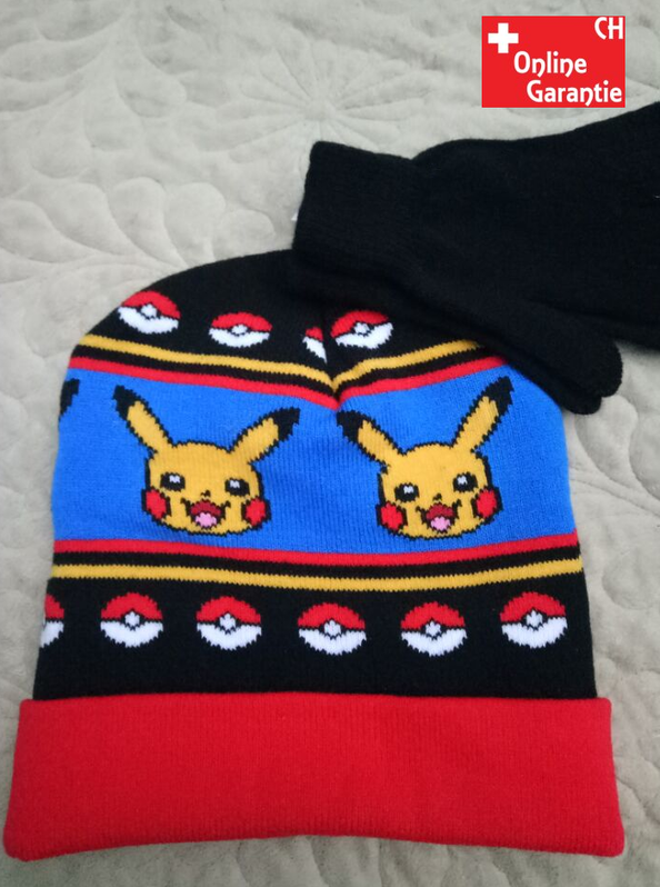 Pokémon Pikachu Winter Kleidung Mütze Beanie Kappe Paar Handschuhe Kind Kinder Fan Baby & Kind