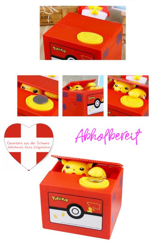 Pokémon Spardose Geld Münzen Pikachu Geld Sparschwein das Geschenk für Kinder und Fans / Neu  Baby & Kind 2
