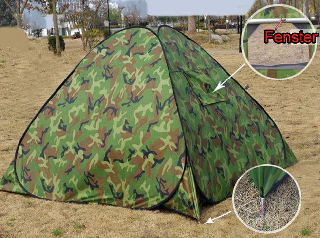 Popup Militär Camouflage Wurf Zelt Wurfzelt schneller Aufbau Openair Festvial Outdoor Jagd Sport & Outdoor 2