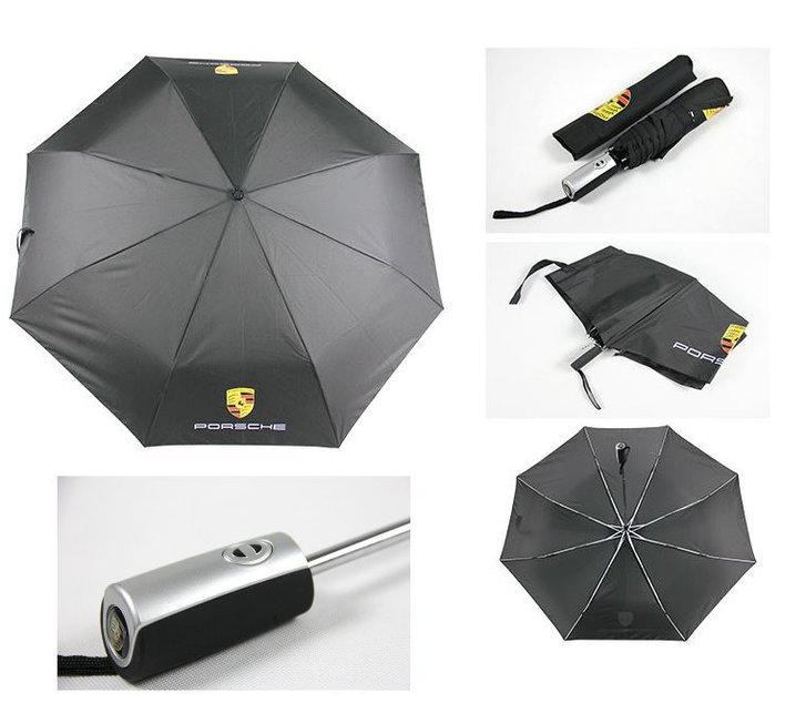 Porsche Auto Fan Regenschirm Taschenschirm Schwarz Wasserfest Kleidung & Accessoires 2