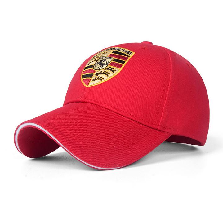 Porsche Cap Kappe Mütze Baseball Baseballcap Fan Schwarz oder Rot Logo Kleidung & Accessoires 2