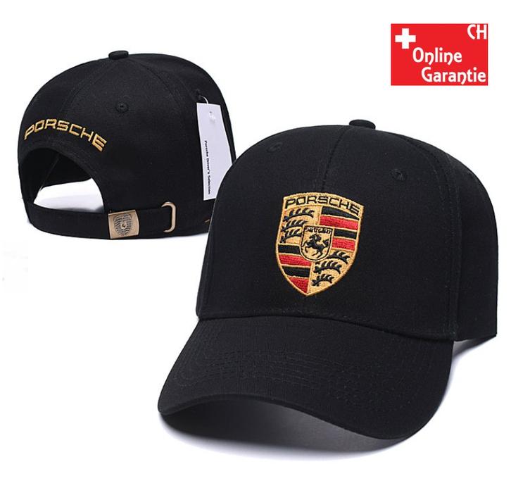 Porsche Cap Kappe Mütze Baseball Baseballcap Fan Schwarz Rot Weiss Beige Logo Kleidung & Accessoires