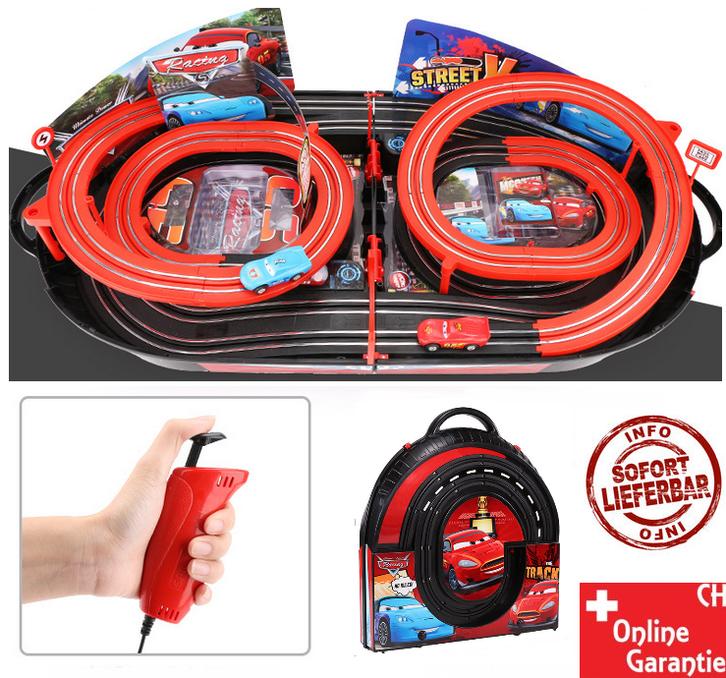 Portable Rennbahn im Koffer Car Cars Racing Auto Rennstrecke Geschenk Kinder Junge Koffer Reifen Spielzeuge & Basteln