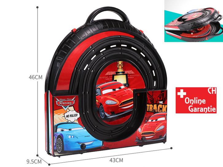 Portable Rennbahn im Koffer Car Cars Racing Auto Rennstrecke Geschenk Kinder Junge Koffer Reifen Spielzeuge & Basteln 3