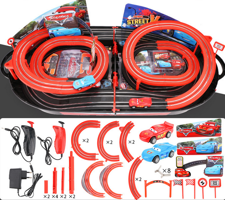 Portable Rennbahn im Koffer Car Cars Racing Auto Rennstrecke Geschenk Kinder Junge Koffer Reifen Spielzeuge & Basteln 4