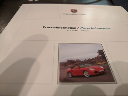 Presse Info 2004 Porsche 911 Turbo Cabriolet Sammeln