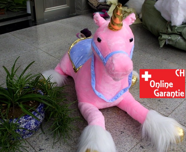 Riesen Einhorn Unicorn Plüsch XXL Plüschtier liegend 110cm 2 Farben Pink Weiss Pferd Horn Geschenk Mädchen Spielzeuge & Basteln 4