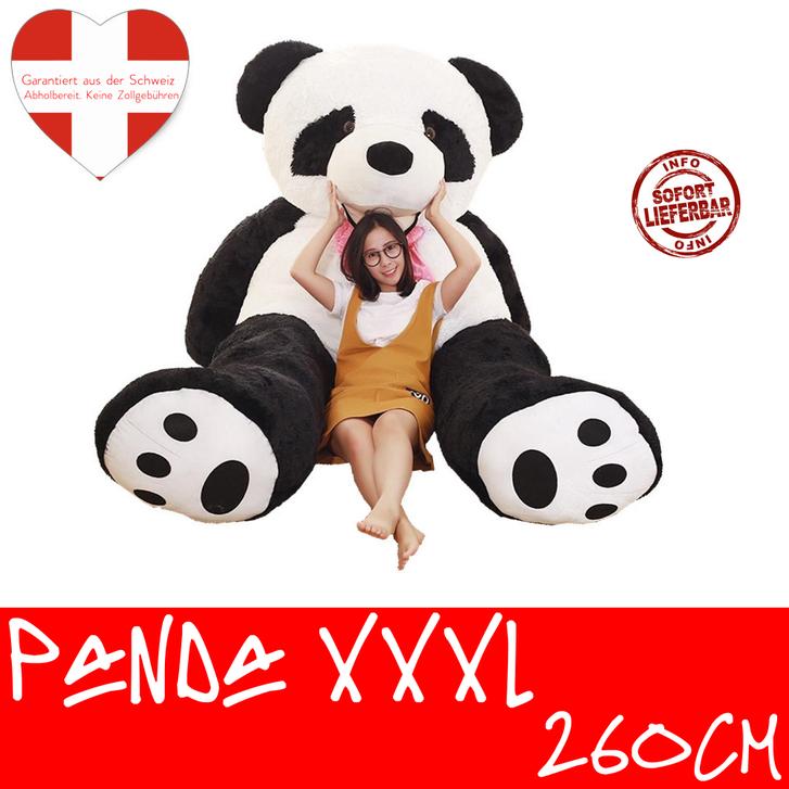 Riesen Panda Bär Pandabär Kuschelbär XXL XXXL 260cm 2.6m Geschenk Kind Kinder Frau Freundin Geburtstag Weihnachten Spielzeuge & Basteln