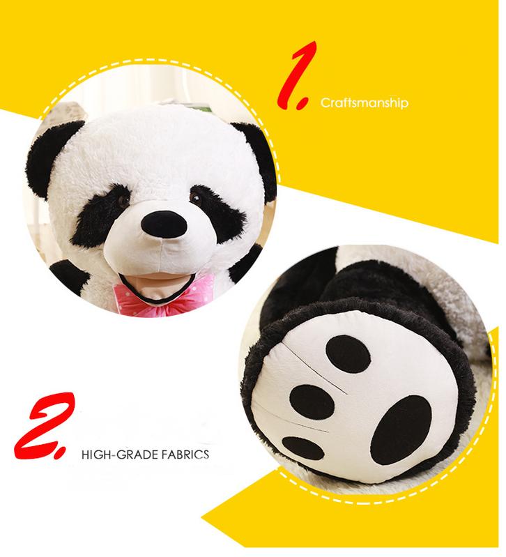 Riesen Panda Bär Pandabär Kuschelbär XXL XXXL 260cm 2.6m Geschenk Kind Kinder Frau Freundin Geburtstag Weihnachten Spielzeuge & Basteln 2
