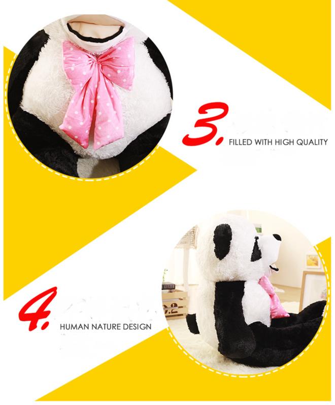 Riesen Panda Bär Pandabär Kuschelbär XXL XXXL 260cm 2.6m Geschenk Kind Kinder Frau Freundin Geburtstag Weihnachten Spielzeuge & Basteln 3