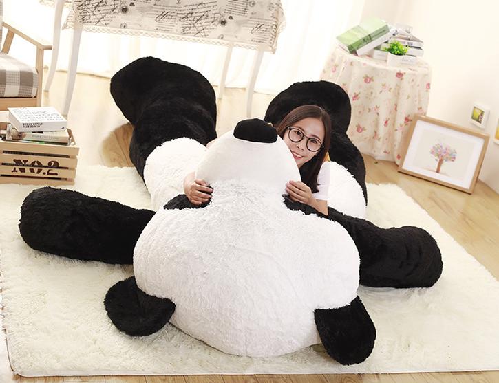 Riesen Panda Bär Pandabär Kuschelbär XXL XXXL 260cm 2.6m Geschenk Kind Kinder Frau Freundin Geburtstag Weihnachten Spielzeuge & Basteln 4