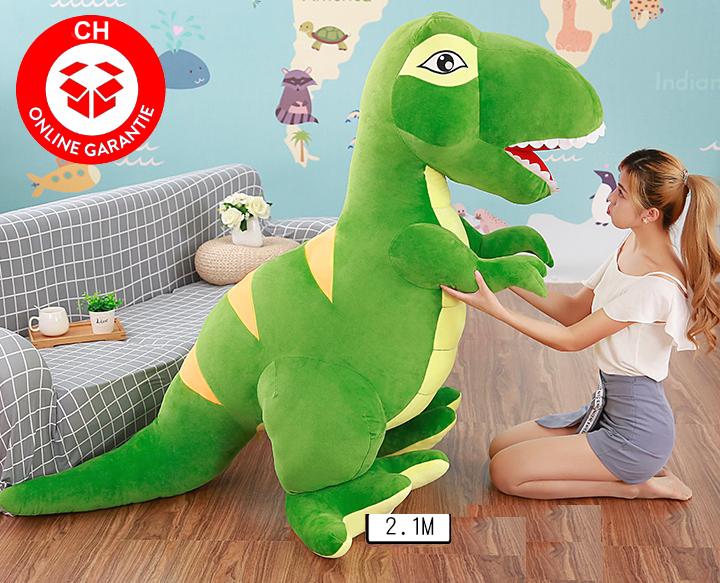 Riesen Plüsch Dino Dinosaurier Stofftier Tyrannosaurus Saurier Plüschdino XXL 210cm Geschenk T-rex Kind Kinder Kids Kind Frau Freundin Spielzeuge & Basteln