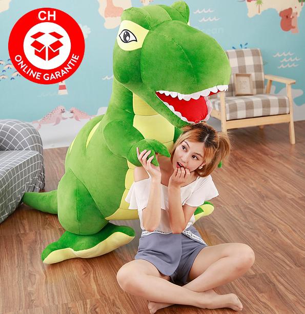 Riesen Plüsch Dino Dinosaurier Stofftier Tyrannosaurus Saurier Plüschdino XXL 210cm Geschenk T-rex Kind Kinder Kids Kind Frau Freundin Spielzeuge & Basteln 2