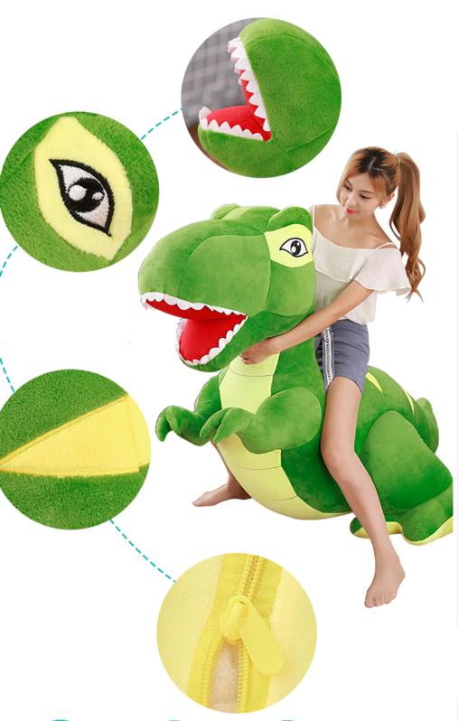 Riesen Plüsch Dino Dinosaurier Stofftier Tyrannosaurus Saurier Plüschdino XXL 210cm Geschenk T-rex Kind Kinder Kids Kind Frau Freundin Spielzeuge & Basteln 3