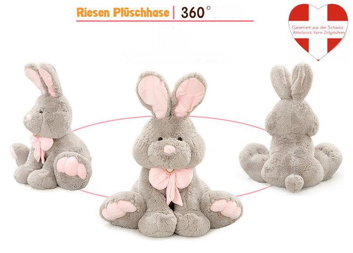 Riesen Plüsch Hase Kaninchen Plüschhase Plüschtier XXL Geschenk Kind Kinder Frau Freundin Ostern ILY I love you I liebe dich 120cm 1.2m Baby & Kind
