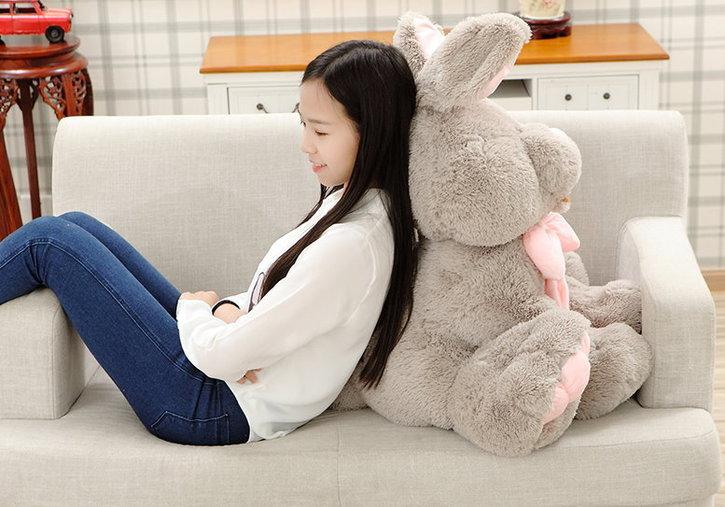 Riesen Plüsch Hase Kaninchen Plüschhase Plüschtier XXL Geschenk Kind Kinder Frau Freundin Ostern ILY I love you I liebe dich 120cm 1.2m Baby & Kind 3
