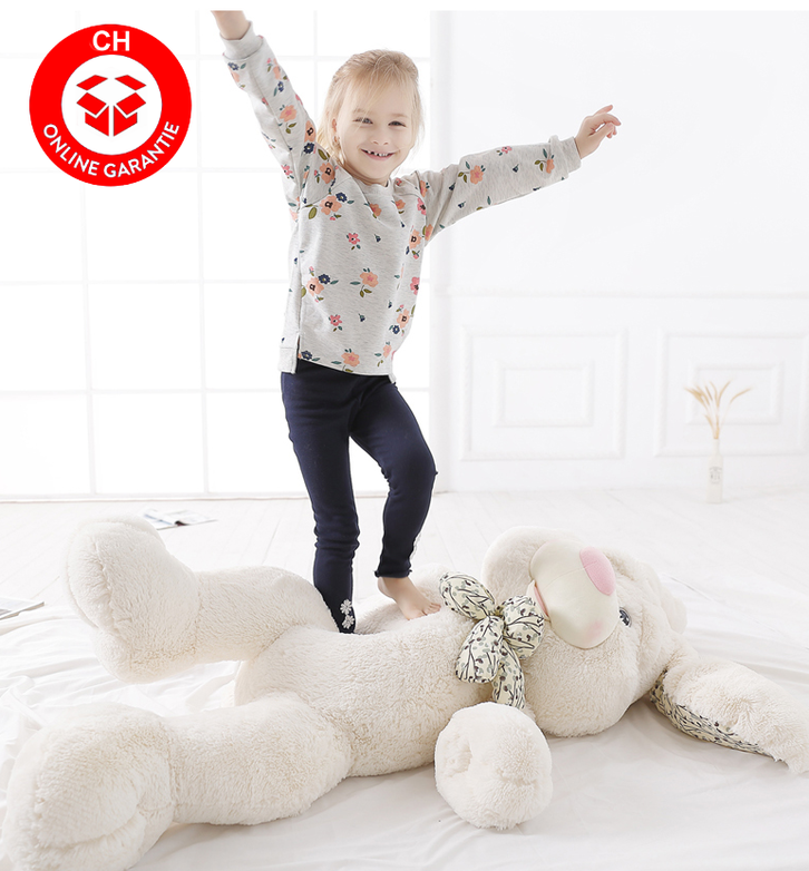 Riesen Plüsch Hase Kaninchen Plüschhase Plüschtier XXL Geschenk Kind Kinder Frau Freundin Ostern Weiss 1.2m Spielzeuge & Basteln 2