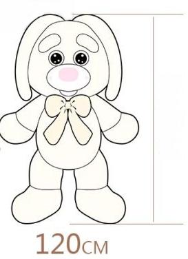 Riesen Plüsch Hase Kaninchen Plüschhase Plüschtier XXL Geschenk Kind Kinder Frau Freundin Ostern Weiss 1.2m Spielzeuge & Basteln 3