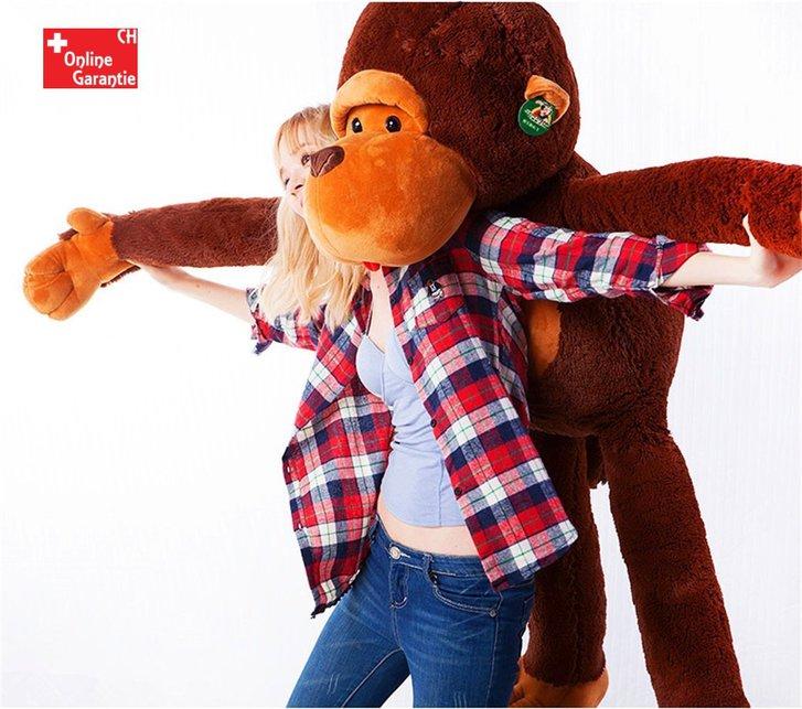 Riesen Plüschtier Aff ca. 130cm XXL Monkey Schlenkeraffe Kuscheltier Aff Plüsch Plüschaffe Geschenk Weihnachten Frau Freundin Kind Kinder Spielzeuge & Basteln
