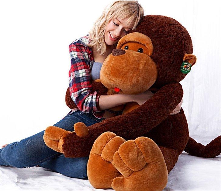 Riesen Plüschtier Aff ca. 130cm XXL Monkey Schlenkeraffe Kuscheltier Aff Plüsch Plüschaffe Geschenk Weihnachten Frau Freundin Kind Kinder Spielzeuge & Basteln 2