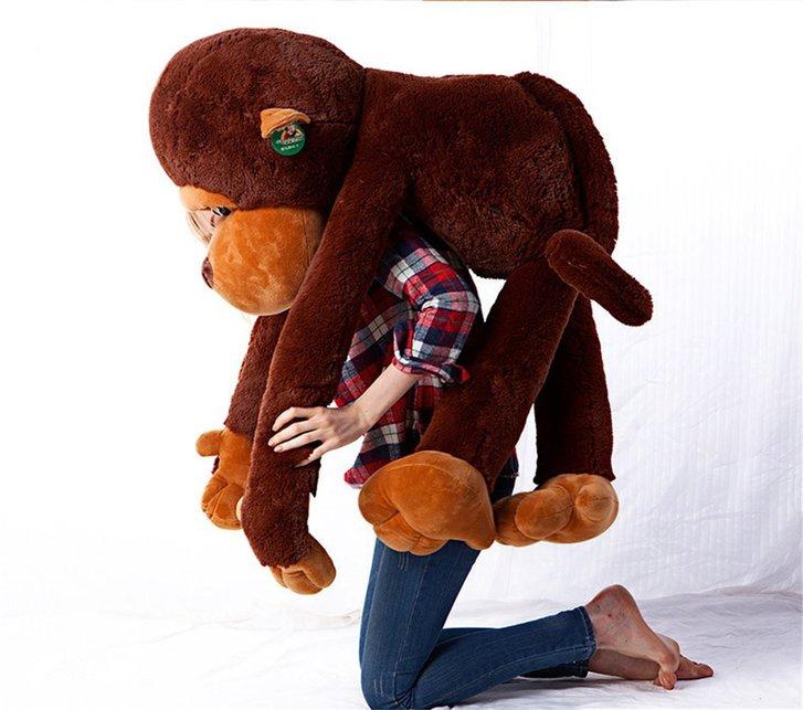 Riesen Plüschtier Aff ca. 130cm XXL Monkey Schlenkeraffe Kuscheltier Aff Plüsch Plüschaffe Geschenk Weihnachten Frau Freundin Kind Kinder Spielzeuge & Basteln 3