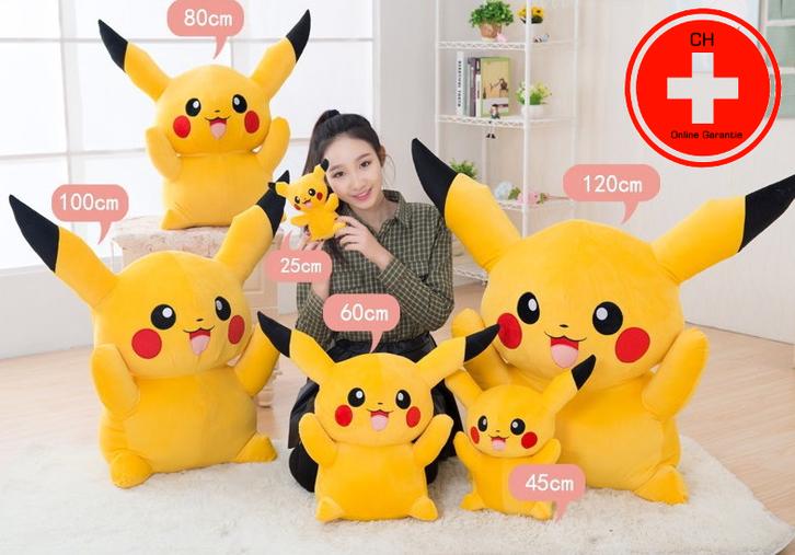 Riesen Pokémon Pikachu Plüsch XL XXL Plüschfigur Plüschtier Kuscheltier 80cm | 120cm Geschenk Fan Kind Frau Freundin TV Kino Game Gaming Accessoire Sonstige
