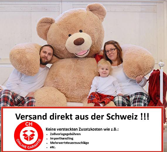 Riesen Teddy Teddybär Plüschbär Braun Geschenk Der Grösse Teddybär auf dem Markt - 260cm XXXL XXL Plüsch Bär Weihnachten Schweiz Swiss Wallis Geburtstag Baby & Kind 2