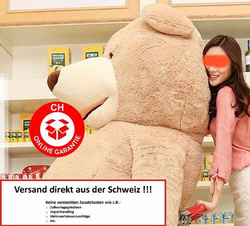 Riesen Teddy Teddybär Plüschbär Braun Geschenk Der Grösse Teddybär auf dem Markt - 260cm XXXL XXL Plüsch Bär Weihnachten Schweiz Swiss Wallis Geburtstag Baby & Kind 3