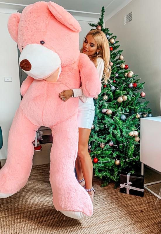Riesenbär Teddy Bär Teddybär XXL Rosa Pink 200cm 2m Geschenk Kind Kinder Frau Freundin Schweiz Kauf
