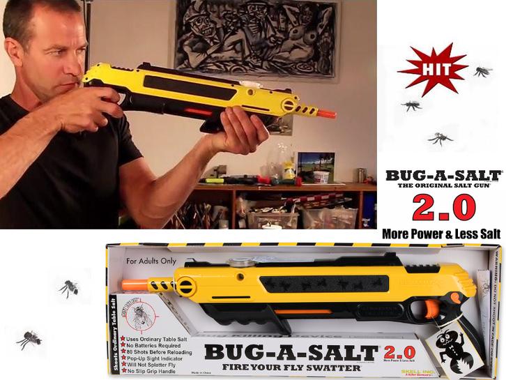 Salz Schrotflinte Bug-a-Salt 2.0 Insekten Fliegen Salz Gewehr Sommer Gadget Salzgewehr Fliegengewehr Garten & Handwerk