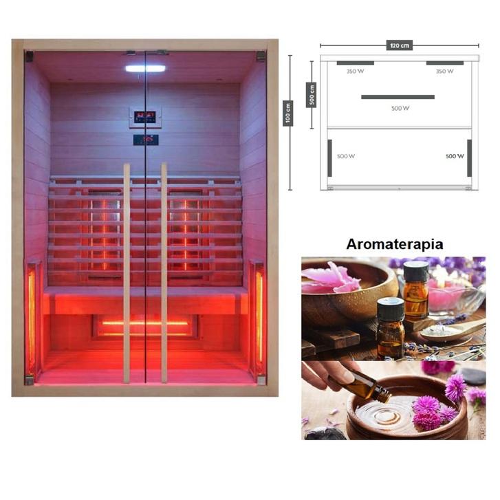 Sauna infrarossi Ruby 2 Haushalt
