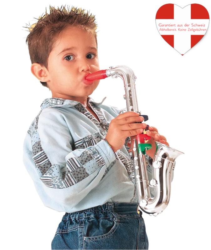 Saxophon Musikinstrument Spielzeug für Kinder Musik SILBER Instrument Spielzeuge & Basteln 2