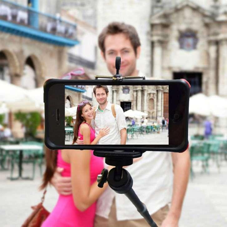 Selfie Stick Bluetooth Selfie Stange Self-portrait Monopod 3in1 Android Samsung Sony HTC iPhone iOS Foto Stick Auslöser Natel Handy Smartphone Sonstige 2