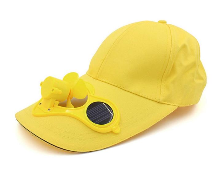 Solar Baseball Cap Mütze Kappe mit integriertem Mini Ventilator Sommer Sonne Gadget Solarkappe Modeaccesoire Solar-Baseball-Cap Sonstige 3