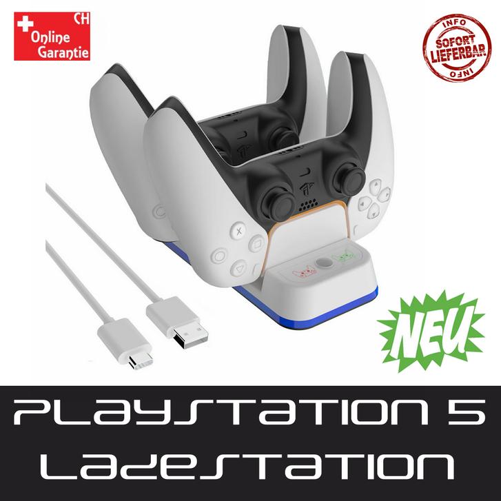 Sony Playstation 5 PS5 Controller DualSense Ladestation Gamepad Charger Zubehör Konsole Sonstige