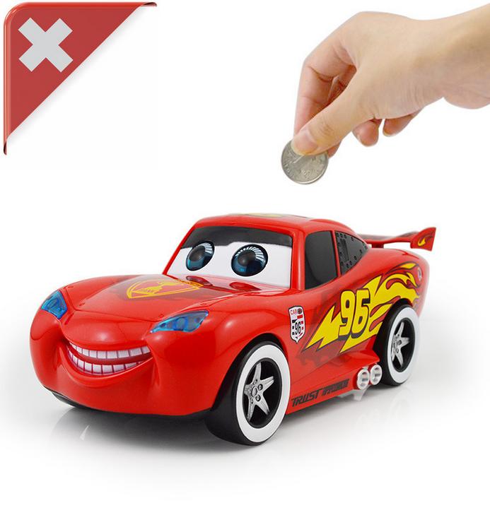 Spardose Sparbüchse Sparschwein Kinder Car Auto Spielzeug Münze Münzen Coin Batterienbetrieb Spielzeuge & Basteln