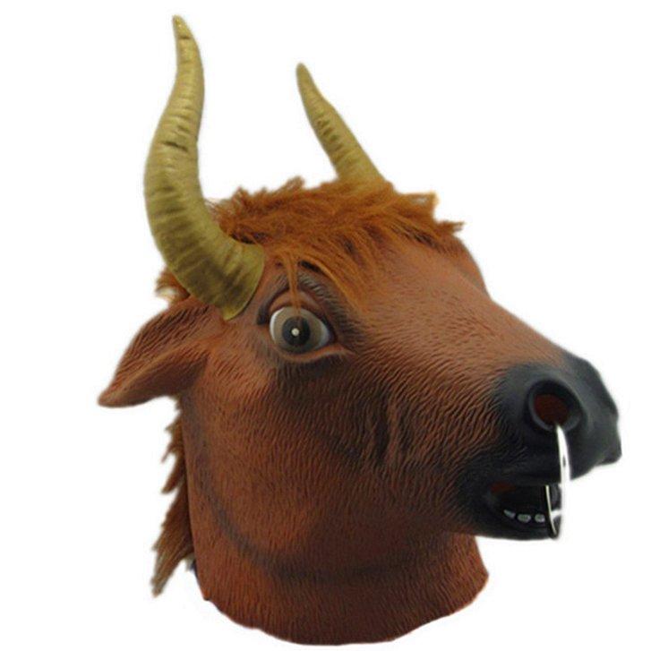 Stier Maske Stiermaske Kuhmaske Tiermaske Fasnacht Halloween Kuh Kleidung & Accessoires