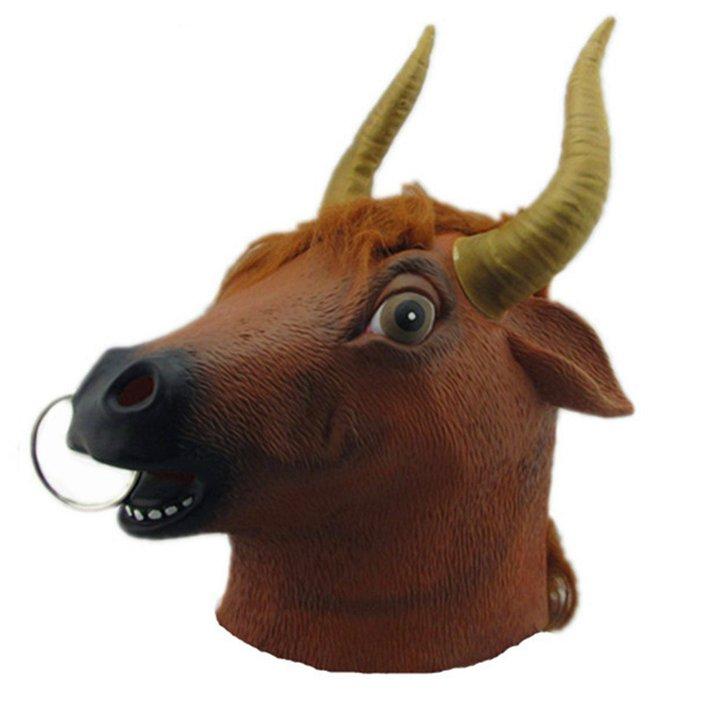 Stier Maske Stiermaske Kuhmaske Tiermaske Fasnacht Halloween Kuh Kleidung & Accessoires 2