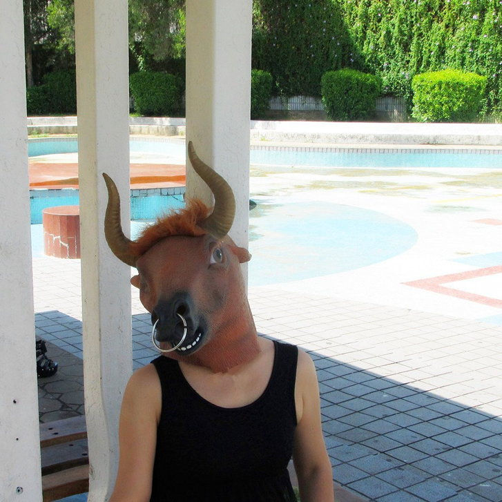Stier Maske Stiermaske Kuhmaske Tiermaske Fasnacht Halloween Kuh Kleidung & Accessoires 4