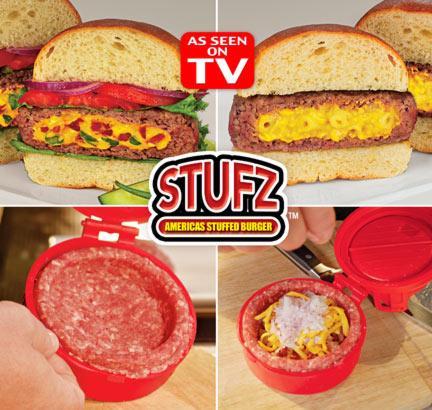 Stufz Gefüllte Hamburger Frikadellen Burger Presse Hamburgerpresse Burgerpresse gefüllt Käse aus den USA Schweiz Haushalt 2