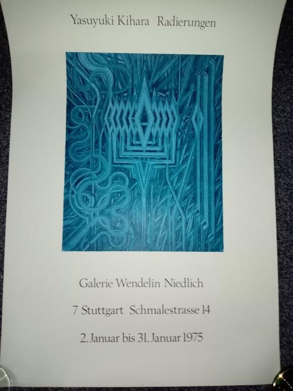 Stuttgart 1975 Ausstellungs Plakat  Yasuyuki Kihara  bei Niedlich Antiquitaeten
