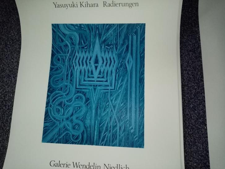 Stuttgart 1975 Ausstellungs Plakat  Yasuyuki Kihara  bei Niedlich Antiquitaeten 3