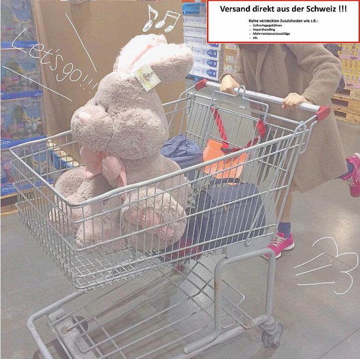 Süsser Riesen Plüsch Hase Plüschhase Bunny Kanichen 120cm Geschenk XXL Geschenktipp Kind Kinder Frau Freundin Schweiz Baby & Kind 3