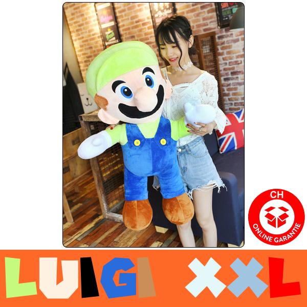 Super Mario Luigi Riesen Plüsch Figur Plüschtier Stofftier Nintendo Geschenk XXL Videospiel Luigi's Mansion Game Video TV Spielzeuge & Basteln